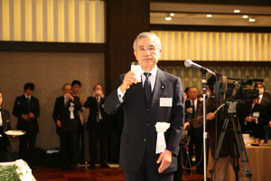 Toast by Mr. Uehara, a member of board of directors