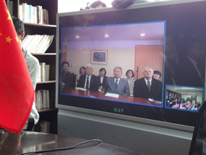 Satellite conference between JIU main campus<br /> and Dalian Office