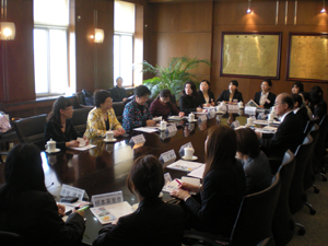 Meeting with members of the Dalian municipal government