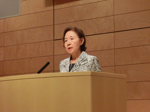 Keynote speech delivered by Chancellor Mizuta