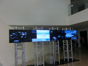 The information display at the entrance to the School of Creative Media
