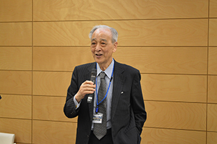 Former Japanese Ambassador to Thailand, Hisahiko Okazaki speaks at the reception