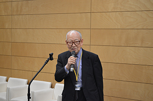 TPA Advisor, Shirō Miyamoto speaks at the reception
