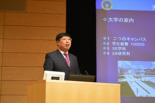 President Xiu during his lecture