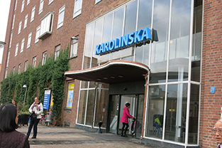 Entrance to the Karolinska University Hospital