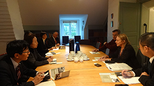 Meeting at the European Institute of Japanese Studies in the Stockholm School of Economics