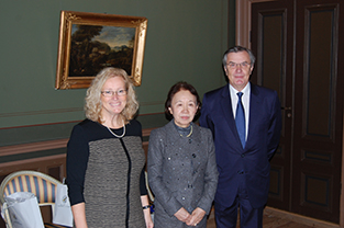 In Linnaeus's Room with the chancellor of Uppsala University and former Ambassador Vargö of Sweden