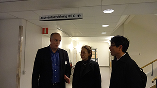 At the Uppsala University Hospital