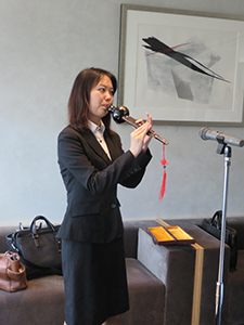 Flute performance from Ms. Yang
