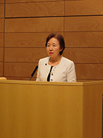 Chancellor Mizuta gives opening remarks