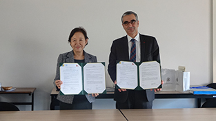 Signing of the exchange agreement with the Université de Bourgogne