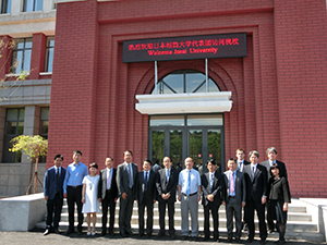 Commemorative Photo at the Shenyang  Pharmaceutical University campus