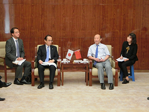 Meeting with President Bi Kaishun