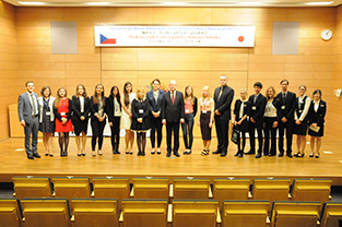 With students and staff members from Central Europe