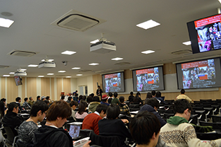 Professor Ishii gives his lecture
